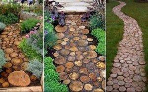 Идеи для садовых дорожек загородных апартаментов.