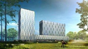 Гостиницу с чешуйчатыми фасадами и «зеленой» крышей построят в столице